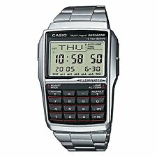 BRAND NEW CASIO  STEEL DATABANK CALCULATOR WATCH DBC32D-1A **UK SELLER**