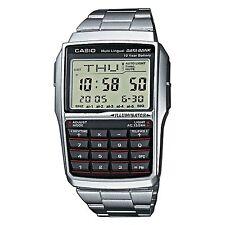 Nagelneue CASIO Stahl Datenbank Calculator Watch dbc32d-1a ** UK Verkäufer **