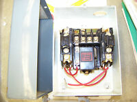 Allen Bradley AC Automatic Starter Size 00 Cat no 709-TAH, with 2 - N24 heater