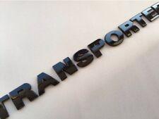 GLOSS BLACK VW TRANSPORTER BADGE LETTERS T4 T5 CAMPER CARAVELLE TDI T30 T32