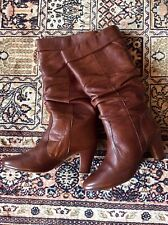 BOTTES EN CUIR MARRON FAUVE 39 STYLE SEVENTIES- BROWN LEATHER BOOTS THE AVENGERS
