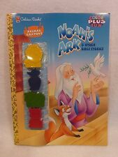 """VINTAGE 1998 Golden Books """"Noah's Ark"""" Color Plus Fun Book with 4 Animal Crayons"""