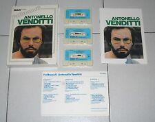 Cofanetto 3 Mc L'ALBUM DI ANTONELLO VENDITTI - RCA Musicassette Box
