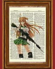Highschool of The Dead Rei Miyamoto Dictionary Art Print Anime High School