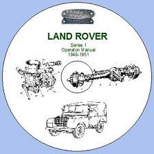 LAND Rover Serie 1 1948-1951 manuale operativo