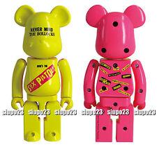 Medicom 200% Bearbrick ~ Bandai Chogokin Sex Pistols Be@rbrick (Yellow / Pink)