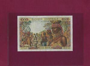Equatorial African States GABON 1000 Francs 1963 P-5h VF CODE LETTER D