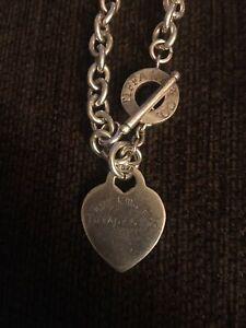 chunky Sterling Silver T Bar Heart Bracelet