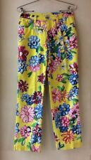 Rare Moschino Peace Jeans 28 W Bold Floral Peace Pocket Made Italy Mint