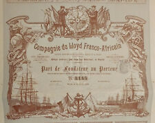 DECO & RARE! Compagnie du Lloyd Franco-Africain - 1898