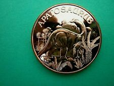 Apatosaurus Dinosaur 1oz Copper Round