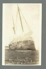 Cook Inlet ALASKA RP 1910 WRECK S.S. FARALLON Steamship Steamer J.E. THWAITES