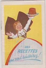 LIVRET  RECETTES ALSA/LEVURE ALSACIENNE-PUB confiseur MOGA LE PERREUX Seine