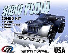 "Suzuki 450 King Quad 4x4/AXi - 2007-2010  KFI ATV 54"" Snow Plow Combo Kit"