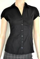 Career Button Down Shirt Solid Petite Tops & Blouses for Women