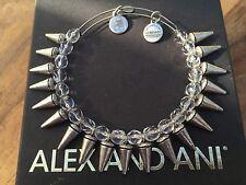 RARE ALEX and ANI CRYSTAL SPIKE of CREATIVITY BEADED BANGLE Silver BRACELET