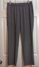 Ann Taylor Women's Black & White Pull On Slouchy Casual Pants Size Small