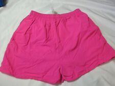 Vintage 80s Nylon Flex-Wear Neon Pink Swim Trunks Small Shorts Nwot!