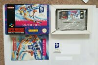 WINTER OLYMPICS 94 - SNES Super Nintendo CIB BOXED PAL UKV + box protector