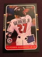 Vlad Vladimir Guerrero Jr 1987 Donruss Style Rated Rookie Aceo 2018 RC Hot