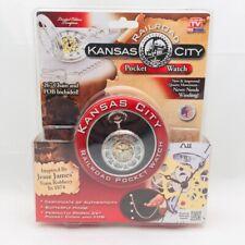 "Kansas City Railroad Pocket Watch, 26"" Chain  As Seen on TV"