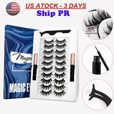 5/7/10 Pares Pestañas Postizas Delineador Líquido magnética 2 nos Easy Wear Pestañas Conjunto