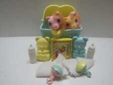 MY LITTLE PONY G1 VINTAGE NEWBORN TWINS DIBBLES AND NIBBLES PLUS ACCESSORIES