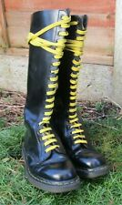DR MARTENS - Black  leather  boots   - 20 Hole - Size 8
