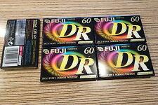 5 x (5er Block OVP) Fuji DR Kassette  MC Cassette 10 cm OVP .60 Min .Ungebraucht