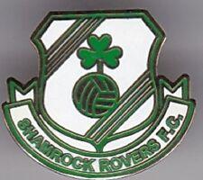 SHAMROCK IRISH SHIELD  EIRE IRELAND DUBLIN ROVERS FOOTBALL BADGE
