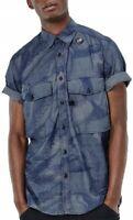 G-Star Raw Herren Hemd Motiv der Enten Blau M, L, XL