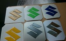 Suzuki Gel domed 3d badge x1 chrome,silver,blue,yellow,gold,lime green colours
