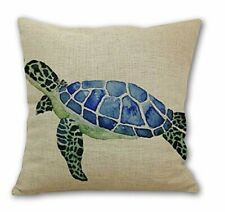 Animal Sea Turtle Wall Cotton Linen Decorative Pillowcase Throw Pillow Cushion *