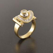 Brand New 18ct yellow & white gold handmade diamond dress engagement ring