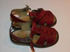 vintage SOLARI 23 ancien SANDALES CHAUSSURES ENFANT cuir bébé KID shoes SCHUHE