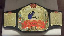 "WWE WWF EUROPEAN Championship Jakks Belt 32"" Waist RETIRED ANGLE SHAWN MICHAELS"