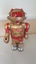 Walking Talking Toby Robot Gold Vintage 80's Toy