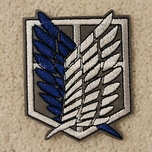 Attack On Titan Scout Regiment Iron-On Cloth PATCH Cosplay Survey Corps USSeller