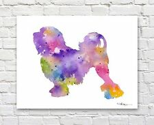 Lowchen Abstract Watercolor Painting Art Print by Artist Dj Rogers