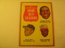 MLB Topps Baseball Card 1962 CEPEDA MAYS 1961 Home Run Leaders #54 GREAT [b5e9]
