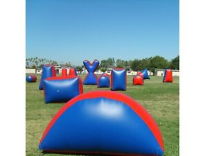 8 piece Inflatable Air Bunker Set for Paintball Airsoft Nerf Archery & Laser Tag
