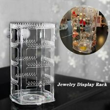 360 Rotating Earring Holder Jewelry Organizer 4 Tiers Jewelry Rack Display Stand