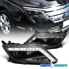 For 2010-2012 Ford Fusion LED DRL Projector Headlights Head Lamps Black