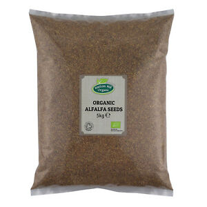 Organic Alfalfa Seeds for Sprouting 5kg Certified Organic