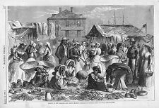The French Market -  Sunday in New Orleans  -  Ethnicities - Red Store  -1866