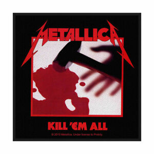 METALLICA KILL 'EM ALL OFFICIAL LICENSED SEW ON PATCH THRASH METAL BADGE NEW