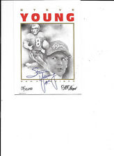 Steve Young 49er's football Dotson greeting card with autograph 1996