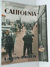 1920's Union Pacific Los Angeles Motor Coach Service Travel Brochure Schedule