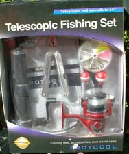"""PROTOCOL TELESCOPIC FISHING SET Rod Extends to 54"""""""
