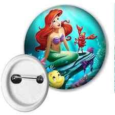 Disney Princess Ariel Little Mermaid Button Pin Badge 50mm
